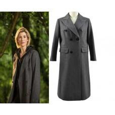 13th Doctor Jodie Whittaker Double Breasted Trench Coat