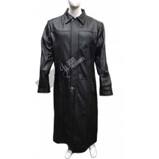 2018 Winter Collection The Punisher Leather Trench Coat With Cigarette Pocket