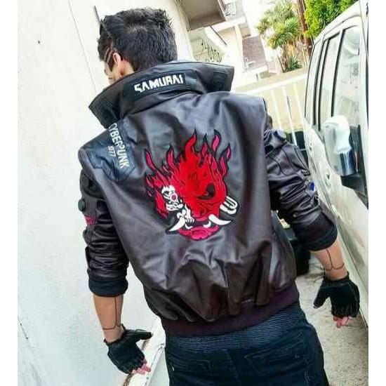Cyberpunk 2077 V Samurai Leather Jacket