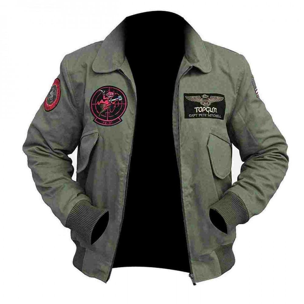 Tom Cruise Pilot Jet Fighter MA-1 Flight Top Gun 2 Bomber ...