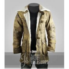 Dark knight Rises Bane Genuine Leather Buffing Trench Coat/Jacket