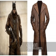 Batman Dawn Of Justice Knightmare Brown Distressed Trench Coat