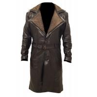 Blade Runner 2049 Ryan Gosling Officer K Fur Collar Trench Coat
