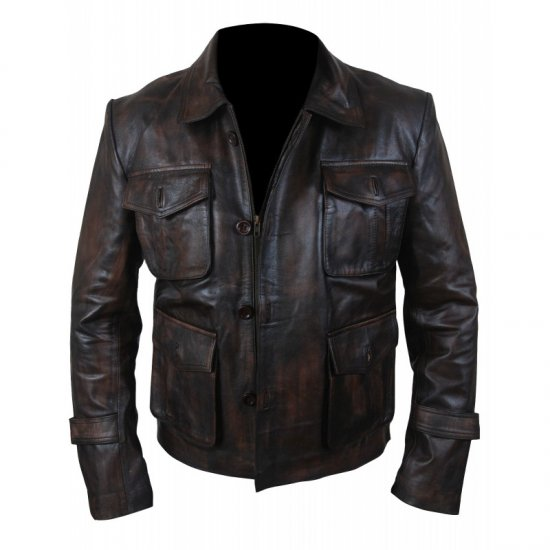 Supernatural Season 7 Brown Distressed Leather Jacket Dean Winchester Coat