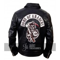 Sons Of Anarchy Reaper Leather Jacket Jax Teller Samcro