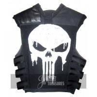 Thomas Jane The Punisher Tacticak Black Leather Vest