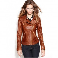 Best Womens Brown Stylish Leather Jacket