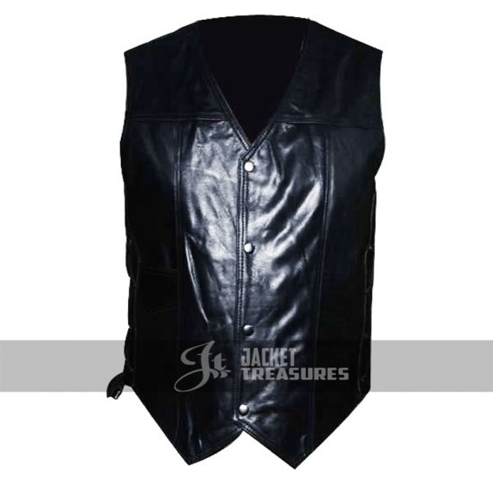 DARYL DIXON ANGEL WINGS LEATHER VEST JACKET THE WALKING DEAD GOVERNOR