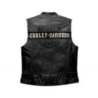 WWF Bill Goldberg Harley Davidson Men's Passing Link Leather Vest
