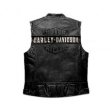 WWF Bill Goldberg Harley Davidson Men's Passing Link Leather Vest